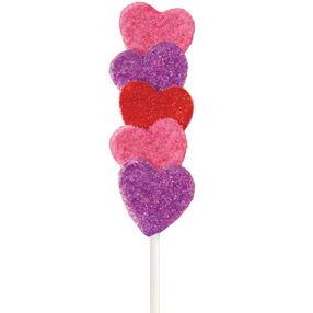 Sparkling Heart Cake on a Stick