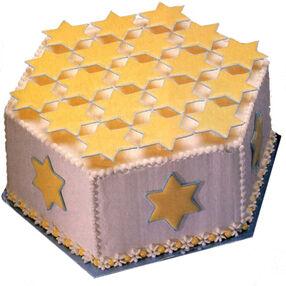 Symbolic Stars Cake