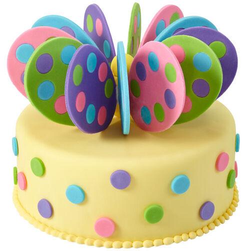 Easter Egg-Topped Cake
