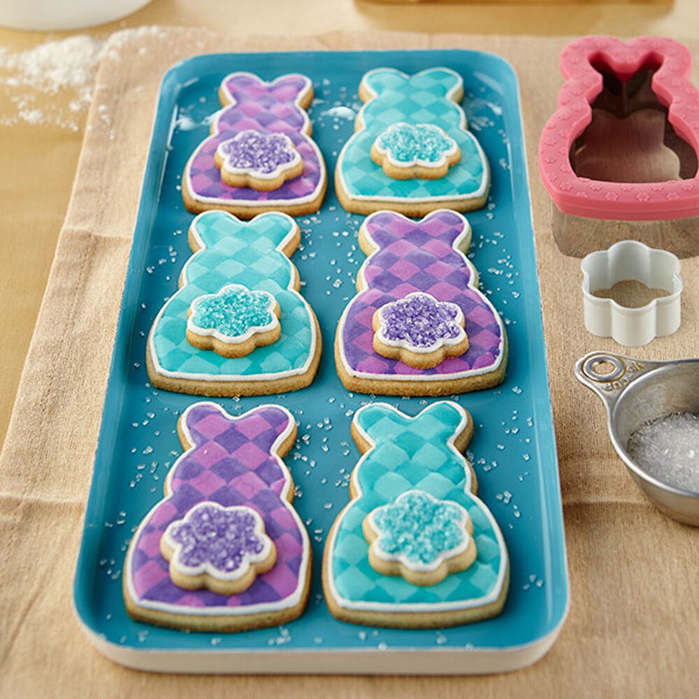 Plaid Easter Cottontail Bunny Cookies Wilton