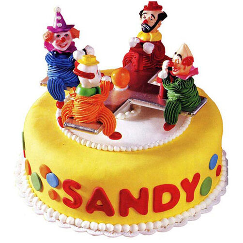 Merry Clown Go Round Cake