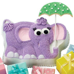 Elephant Excitement Baby Shower Cake