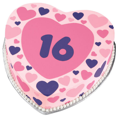 Sweet 16 Hearts Cake