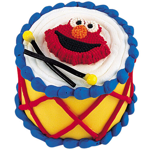 Elmo S Drum Solo Mini Cake Wilton