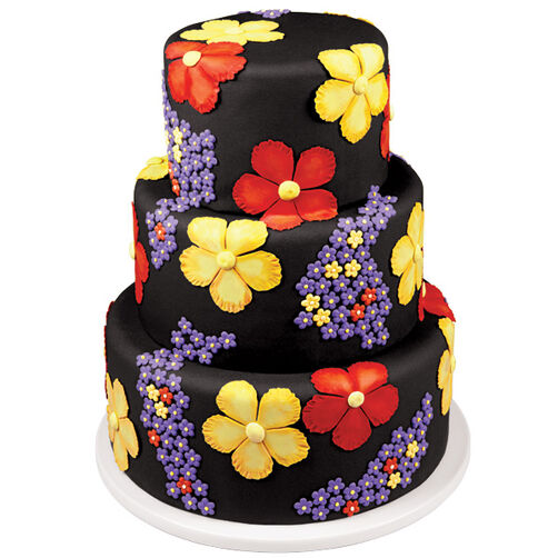 Petal Print Wedding Cake