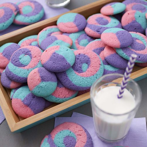 Three Color Swirl Cookies