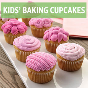 Kids' Baking Cupcakes