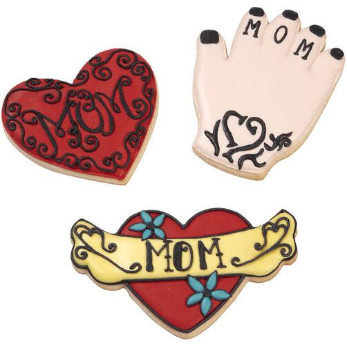 Rockin' Mom Tattoo Cookies