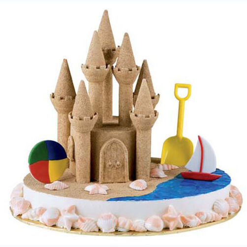 Serenity by the Sea Castle Cake