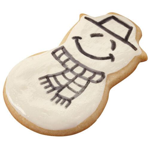 He's A Sketch! Snowman Cookies