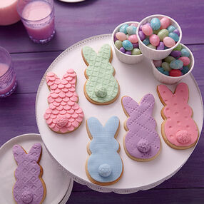 Cookie Bunnies in Spring Colors!