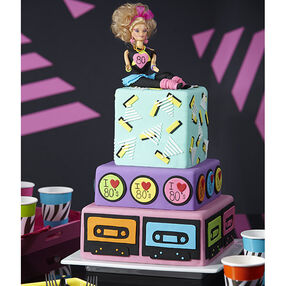 1980s Fondant Cake: Fer Sure It?s The Totally 80s Cake!