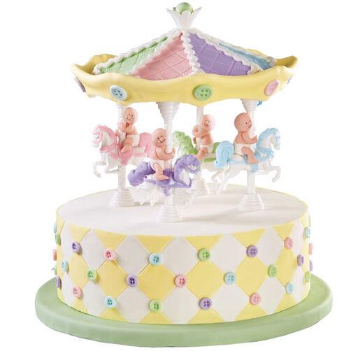 Kiddie Carousel 3D Cake