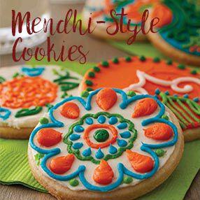 Mendhi Cookies