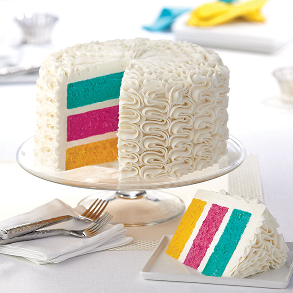 Zigzags Over The Rainbow Cake Wilton