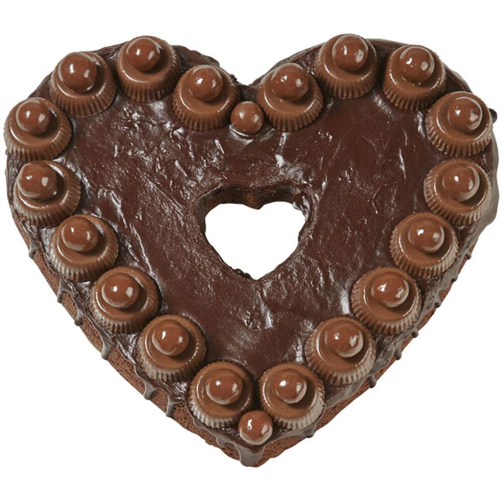 Chocolate Delight Heart Brownie Wilton