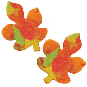 Bright Marbled Leaf Fall Cookies
