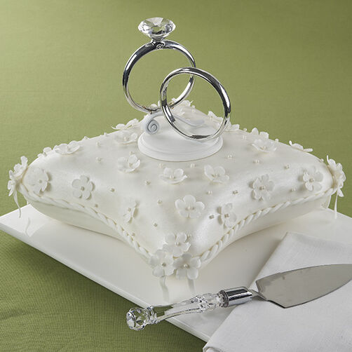 Double Ring Ceremony Cake