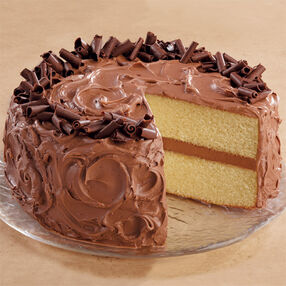 Butter Cake with Chocolate Buttercream Icing