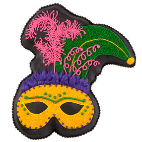 Mask of Midnight Mardi Gras Cake