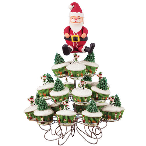 Tree-Trimmers Cupcake Display