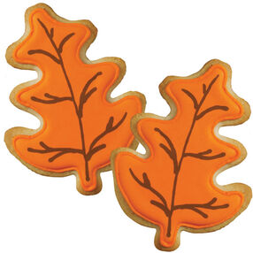 Autumn Leaves Color Flow Cookies