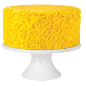 Yummy Yellow Cornelli Fondant Cake