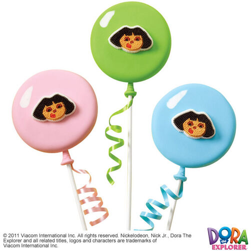 Dora's Balloon Journey Cookie Pops