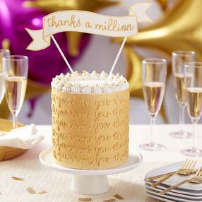 Thank You Cake - Worth Your Weight in Gold Cake