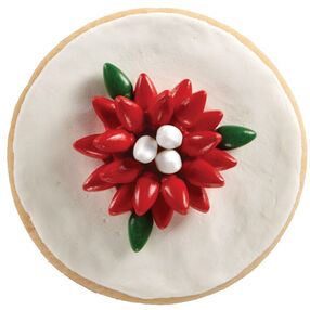 Perky Poinsettia Cookie