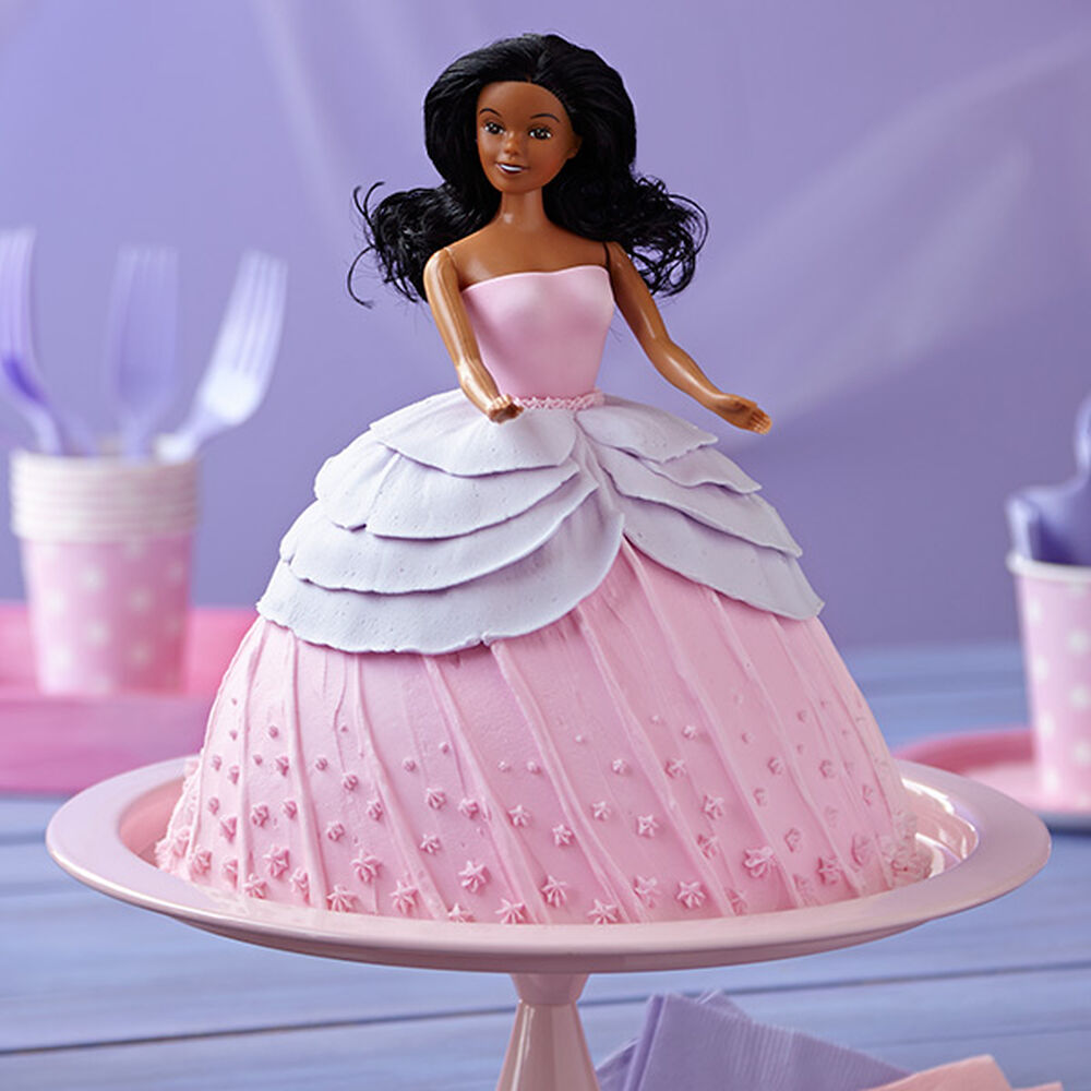 Doll In Pink Dress Cake Wilton