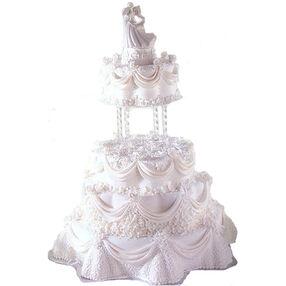A Delicate Drape Cake