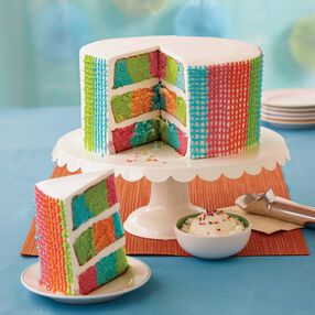 Wilton Gingham Basket Weave Checkerboard Cake