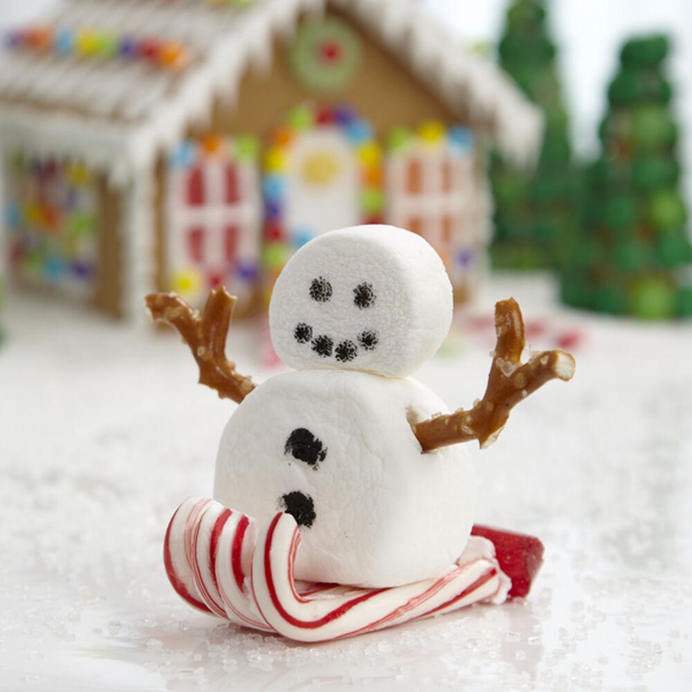 sledding marshmallow snowman wilton
