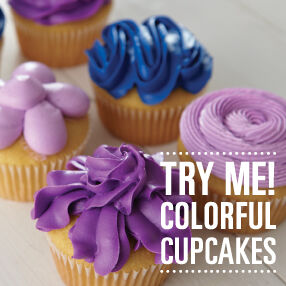 try me colorful cupcakes - Wilton Cake Decorating Classes