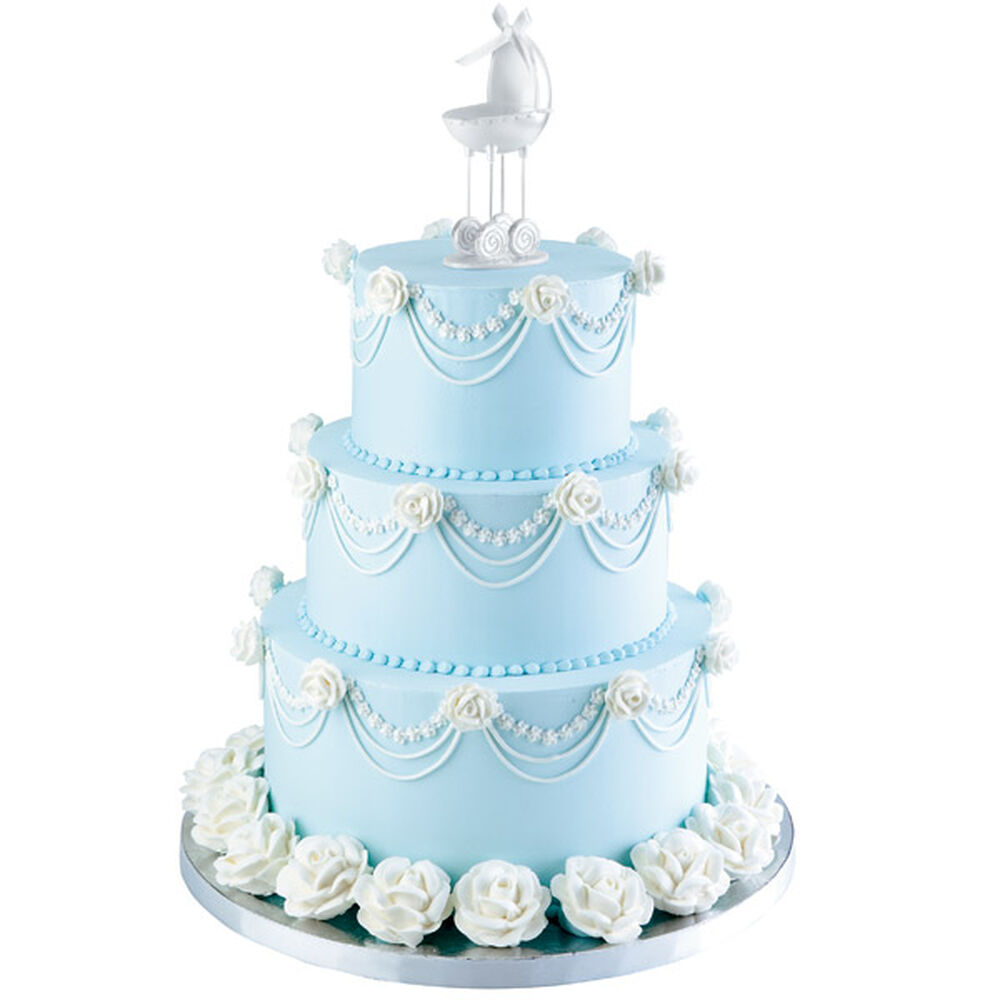 Wilton Baby Shower Cake Images : Tiers of Joy Baby Shower Cake Wilton