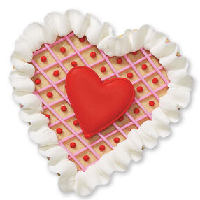 Ruffled Heart Cookies