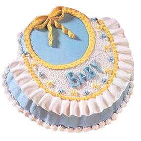 Beautiful Baby Bib Cake