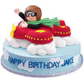Skywriting Salute Cake