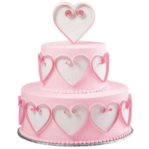 Flirtatious Hearts Tiered Cake