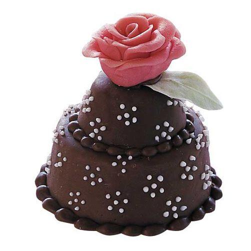 A Single Rose Mini Cake