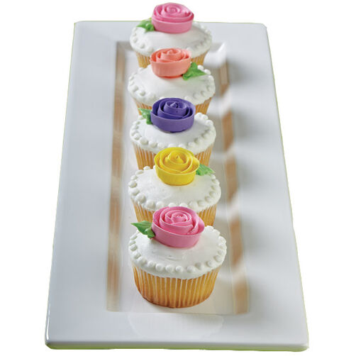 Blooming Ribbon Rose Cupcakes