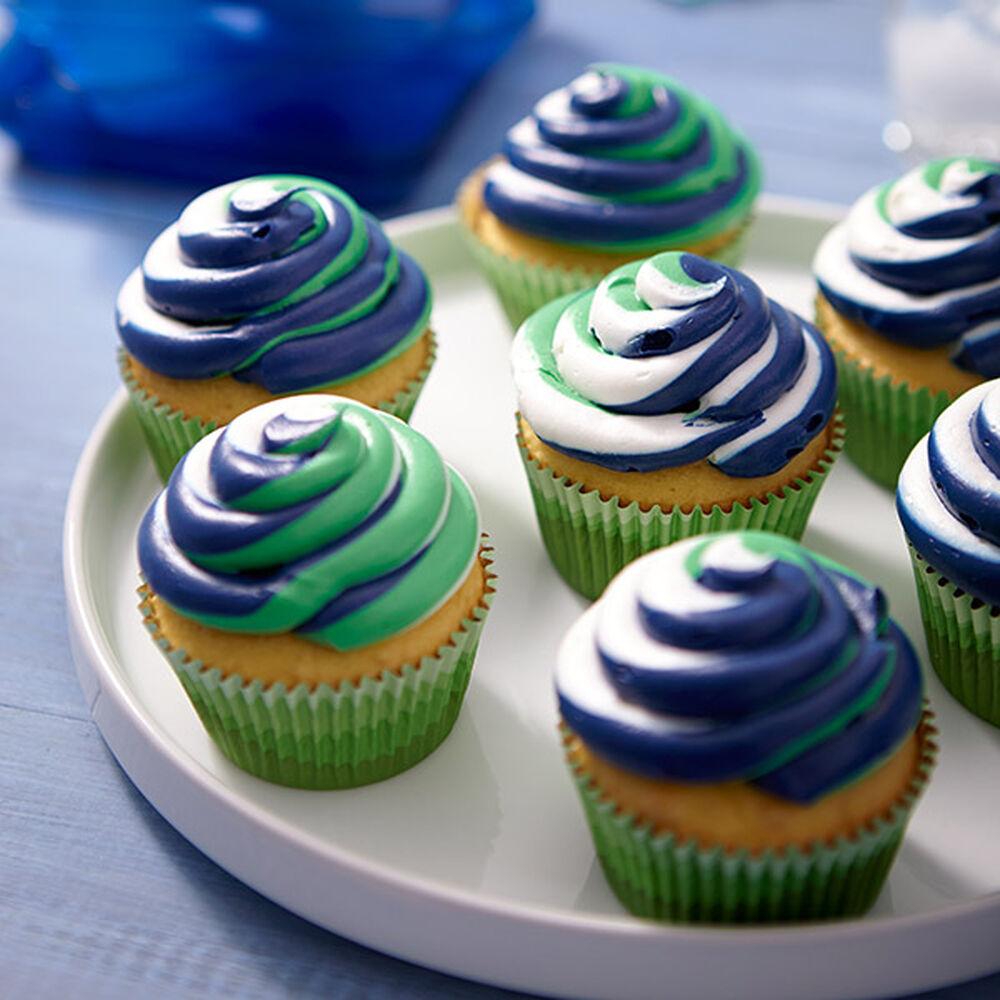 Green Cupcake Decorating Ideas