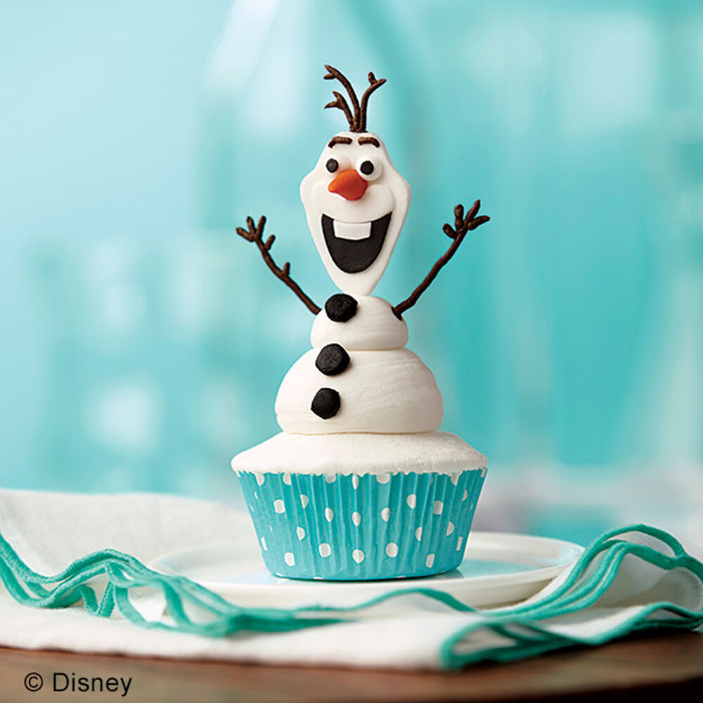 Olaf The Snowman Cupcakes Wilton
