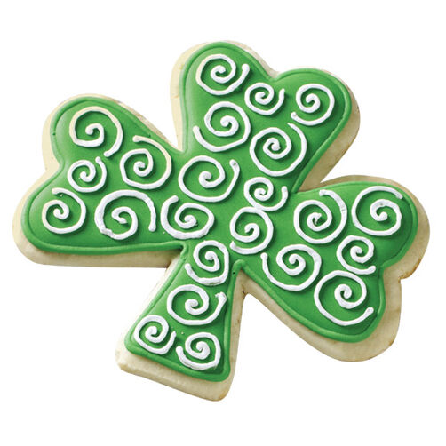 Pick a Lucky Shamrock Swirls Cookie