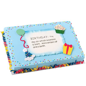 Defining a Good Birthday Cake