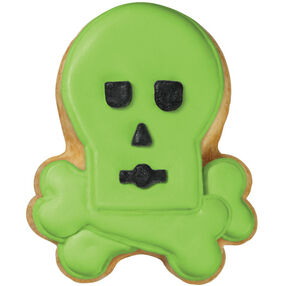 Neon Skull and Crossbones Cookies