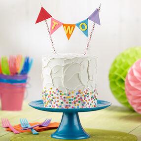 Turning Two Banner Cake