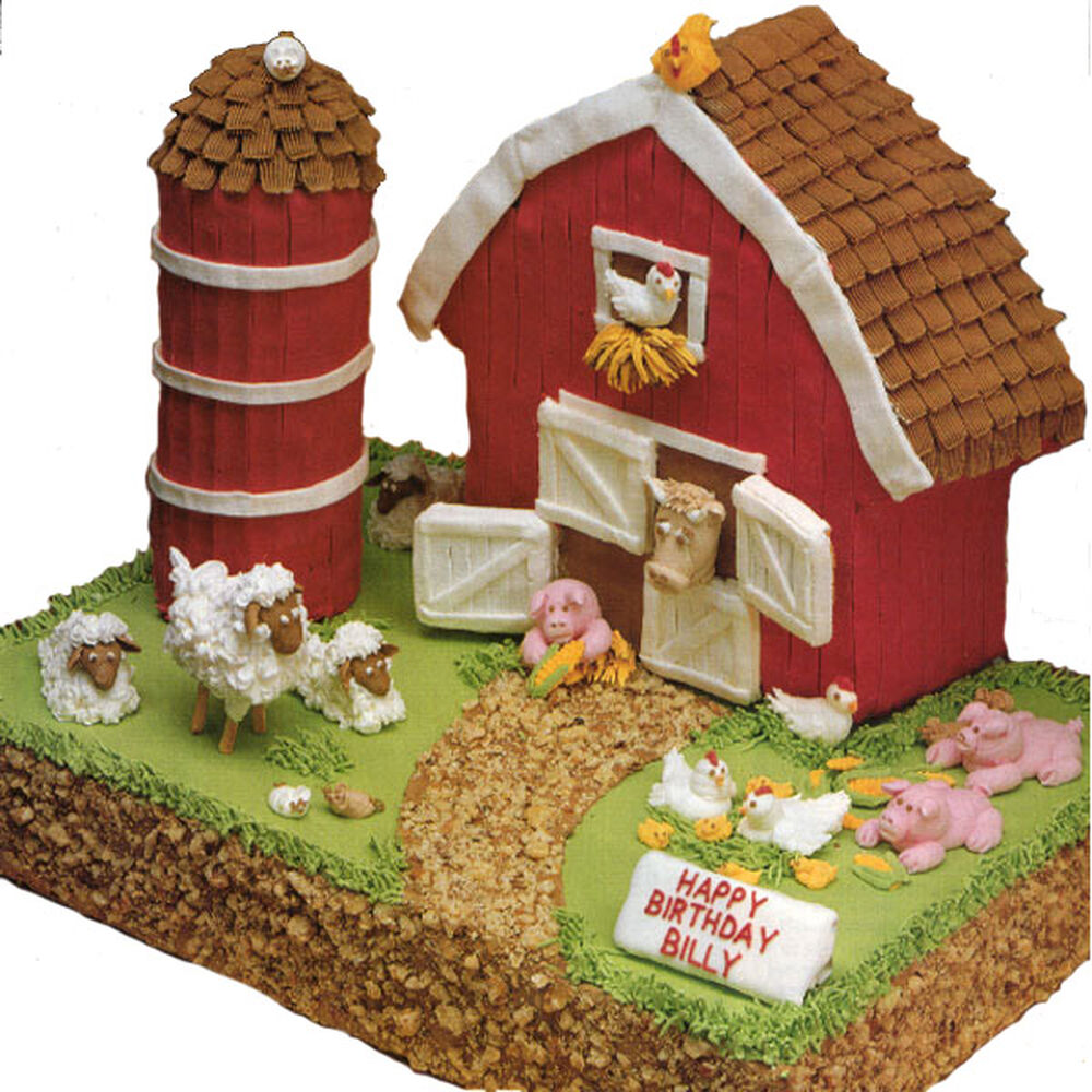 Little Red Barn Cake Wilton