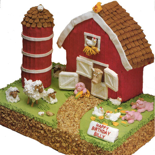 Little Red Barn Cake